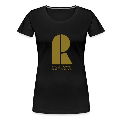 Rowtown Records logo gold / black - Women's Premium T-Shirt