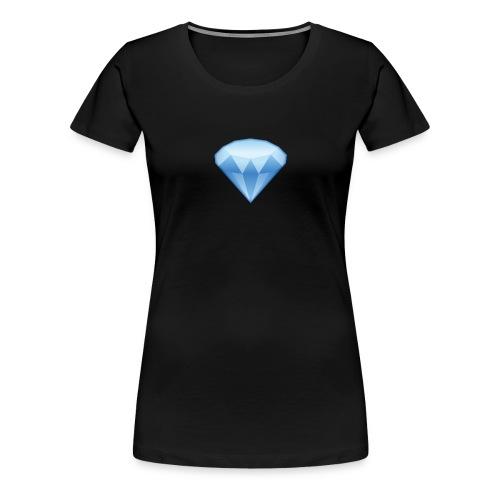 Diamant Emoji - Frauen Premium T-Shirt