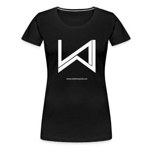 Wild Shot Production Blanc - T-shirt Premium Femme