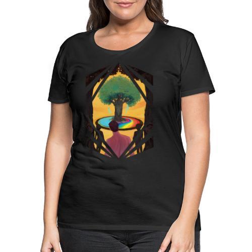 Traveller at the Tree of Creativity - Women's Premium T-Shirt