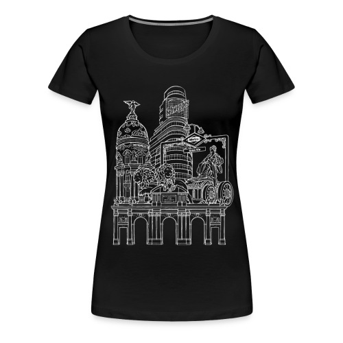 MADRID COLLAGE BLANCO - Camiseta premium mujer
