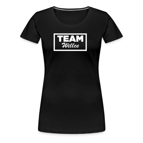 Team willce merch white - Premium-T-shirt dam