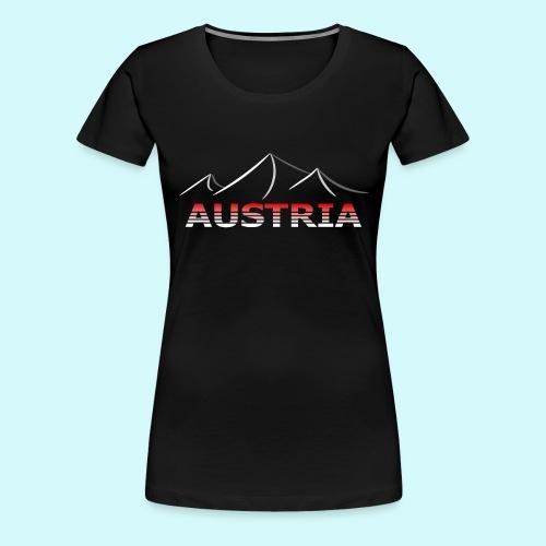 Austria - Österreich Berge T-Shirt - Frauen Premium T-Shirt