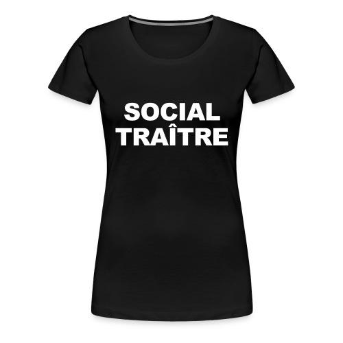 Social Traître gif - T-shirt Premium Femme
