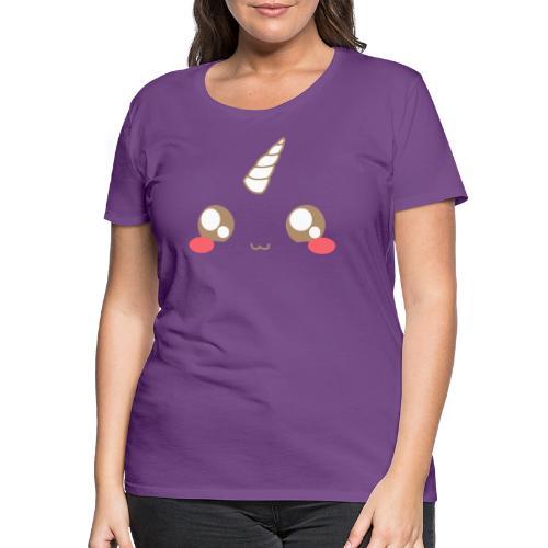 Kawaii_T-unicorn_EnChanta - Women's Premium T-Shirt