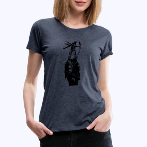 HangingBat schwarz - Frauen Premium T-Shirt