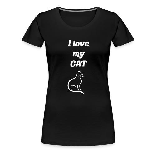Cat katze - Frauen Premium T-Shirt