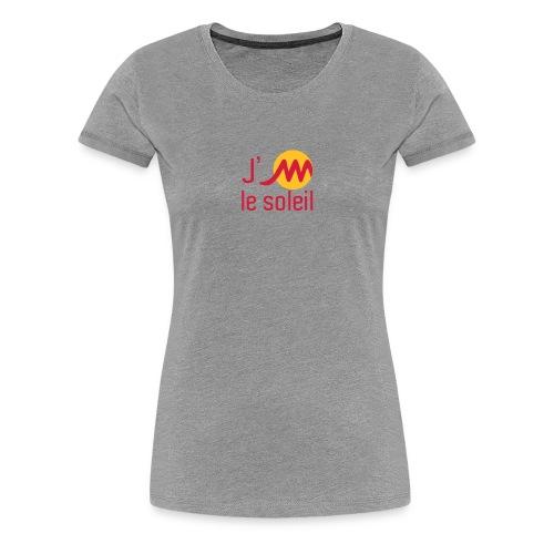jMsoleilrougejaune - T-shirt Premium Femme