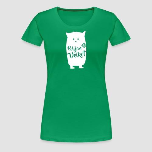 Veikko-pöllö valkoinen - Naisten premium t-paita
