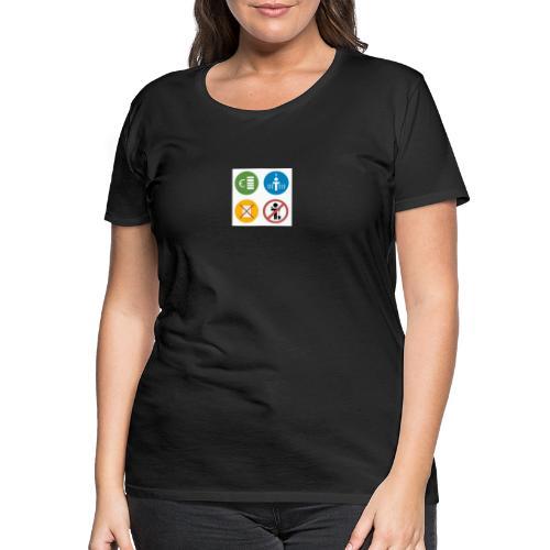 4kriteria obi vierkant - Vrouwen Premium T-shirt
