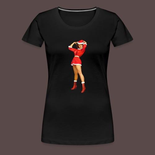 Vintage pin up girl - Happy Holidays! - Maglietta Premium da donna