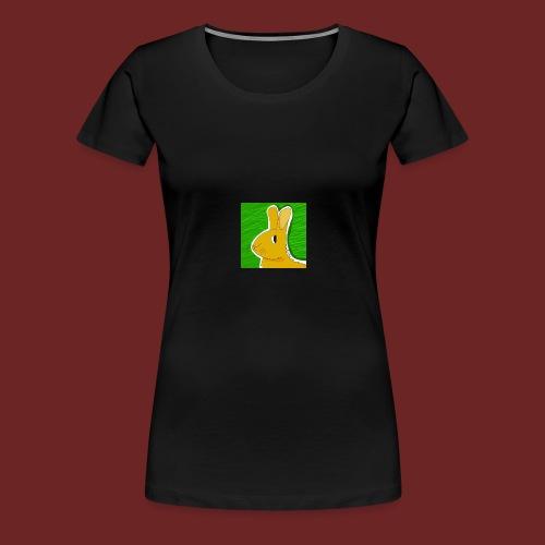 Konijn met groene achtergrond - Vrouwen Premium T-shirt