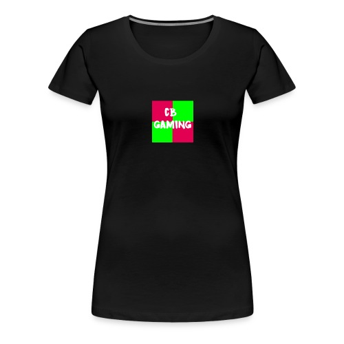 CB Gaming Blue with Red text - Women's Premium T-Shirt