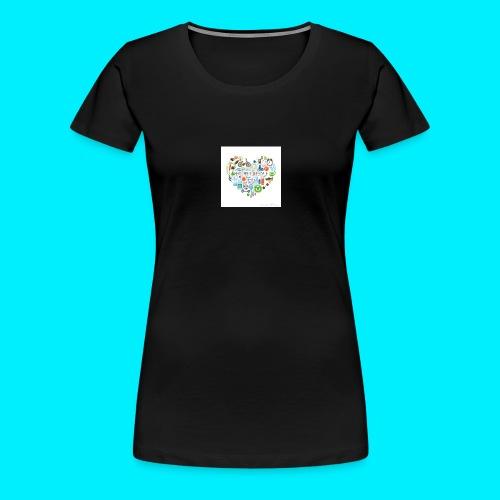 Heart image - Women's Premium T-Shirt