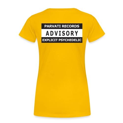 Advisory Explicit Psychedelic - Women's Premium T-Shirt