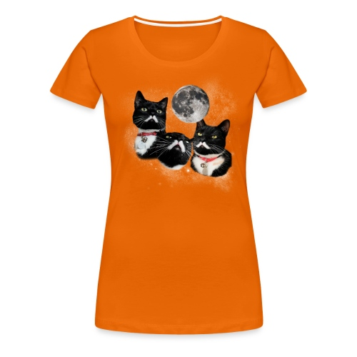 threestalinsandamoonNY png - Women's Premium T-Shirt