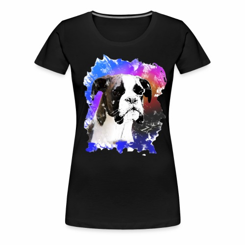 Boxer Welpe Portrait - Frauen Premium T-Shirt