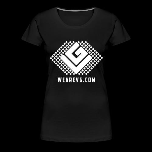 Logo-1 white - Women's Premium T-Shirt