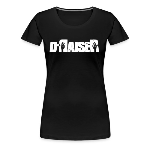 D RAISER LOGO BLANCO - Camiseta premium mujer