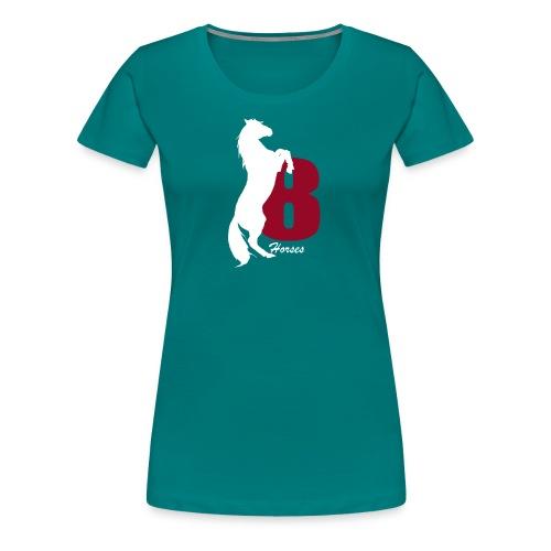 White_18Horses - Premium-T-shirt dam