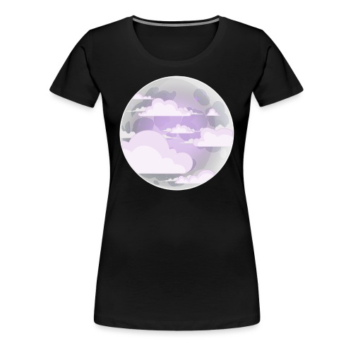 clouds - moon - Women's Premium T-Shirt
