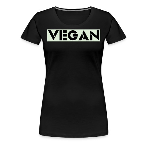 VEGAN IN BOLD - Women's Premium T-Shirt