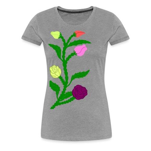 fleurs - T-shirt Premium Femme