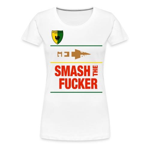 JRC Smash White - Naisten premium t-paita