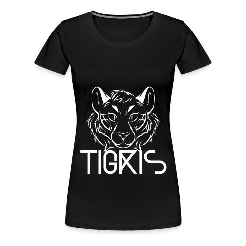 Tigris Logo Picture Text White - Women's Premium T-Shirt