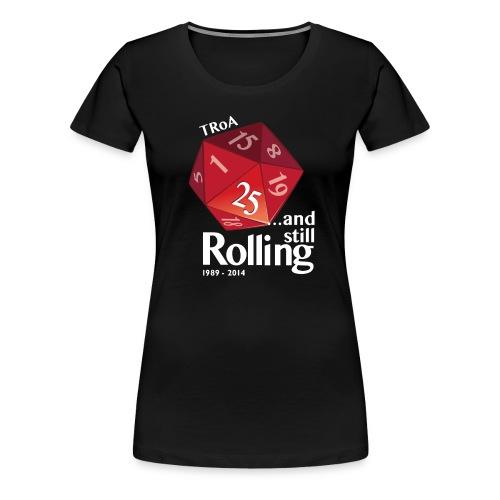 TRoA 25 år - Rød terning - Dame premium T-shirt