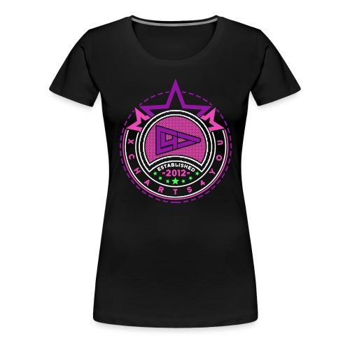 blue wheite black png - Frauen Premium T-Shirt
