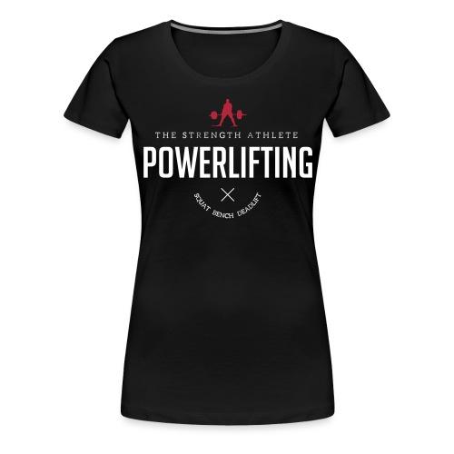 powerlifting white - Women's Premium T-Shirt