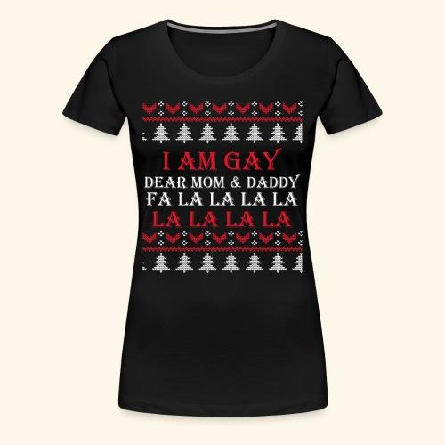 Gay Christmas sweater - Koszulka damska Premium