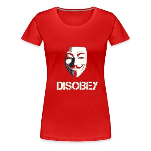 Anonymous Disobey gif - Naisten premium t-paita