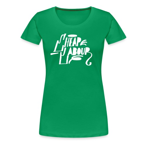 Cheap Labour Basic logo (white on black) - Premium-T-shirt dam