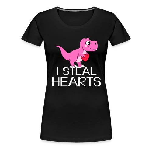 I steal hearts T-Rex - Frauen Premium T-Shirt