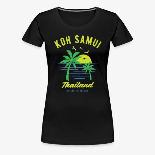 Koh Samui Thailand Insel Souvenir & Geschenkidee - Frauen Premium T-Shirt