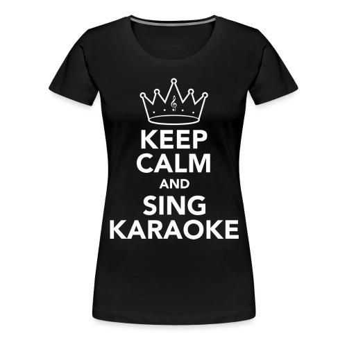 White KEEP CALM png - Women's Premium T-Shirt
