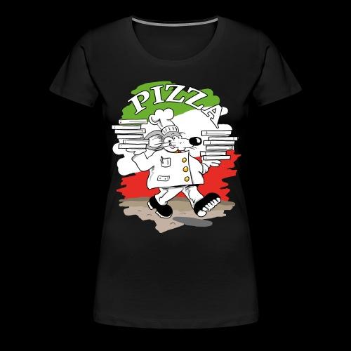 Pizza Lieferdienst - Frauen Premium T-Shirt