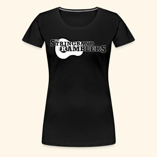 The Stringband RamblersLogo Black White - Frauen Premium T-Shirt