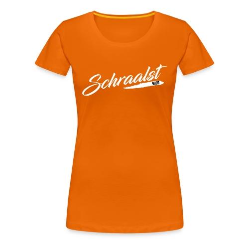 SCHRAALST wit - Vrouwen Premium T-shirt
