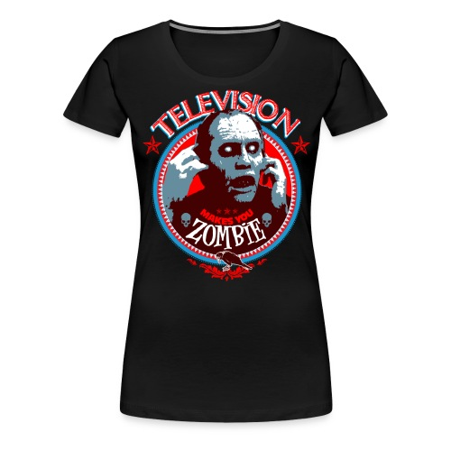 Television Zombie print png - T-shirt Premium Femme