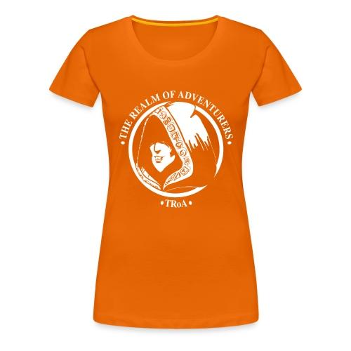 TRoA Logo hvid - Dame premium T-shirt