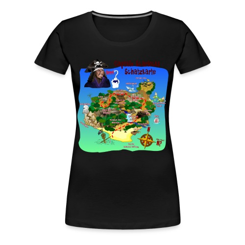 Captain Scarlocks Schatzkarte 1 - Frauen Premium T-Shirt