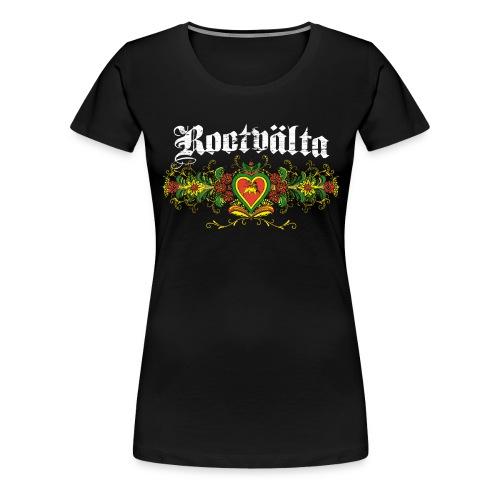 Rootvalta_kurbitslogo_whi - Premium-T-shirt dam
