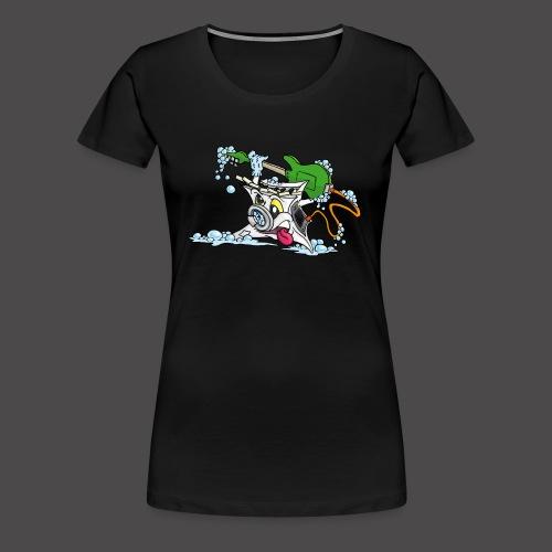 Wicked Washing Machine Wasmachine - Vrouwen Premium T-shirt