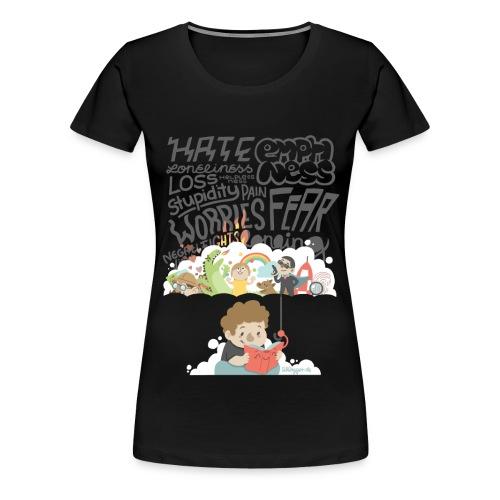 Bücher sind Freunde - Frauen Premium T-Shirt