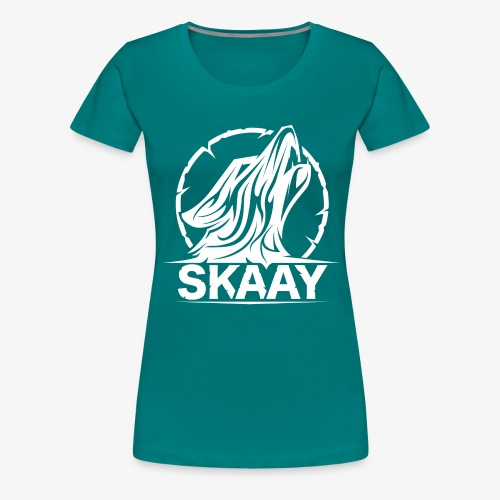 Skaay Logo Weiß GeniyArts png - Frauen Premium T-Shirt