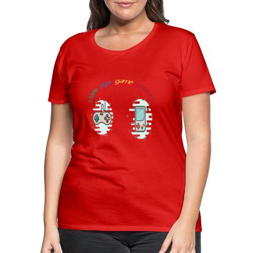 Retro Gaming Tribute - Frauen Premium T-Shirt