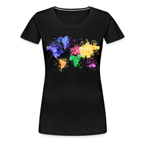 Wanderlust Map - Frauen Premium T-Shirt